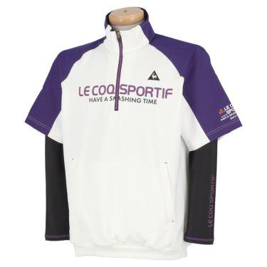 ルコック Le coq sportif メンズ 3WAY 半袖 ハーフジップシャツ & 長袖 ハイネック インナーシャツ QGMOJL53W 2019年モデル ホワイト(WH00)