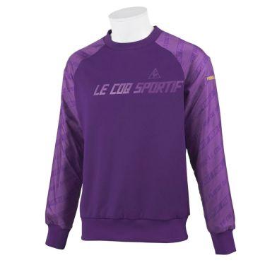 ルコック Le coq sportif メンズ 裏起毛 スウェット 長袖 プルオーバー QGMOJL58 2019年モデル パープル(PP00)