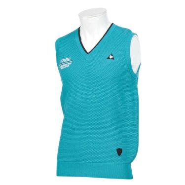 ルコック Le coq sportif メンズ ロゴワッペン Vネック ニットベスト QGMOJL80 2019年モデル ブルー(BL00)