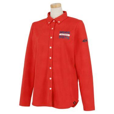 ニューバランスゴルフ レディース プリントデザイン 長袖 ボタンダウン ポロシャツ 012-9269502 2019年モデル レッド(100)