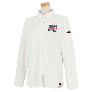ニューバランスゴルフ レディース プリントデザイン 長袖 ボタンダウン ポロシャツ 012-9269502 2019年モデル ホワイト(030)