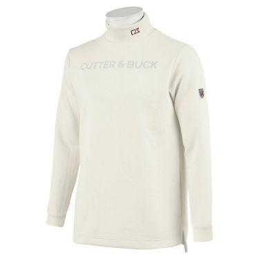 カッター&バック CUTTER&BUCK メンズ ロゴプリント 長袖 ハイネックシャツ CGMOJB10 2019年モデル ホワイト(WH00)