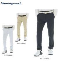 マンシングウェア Munsingwear メンズ ツイル 撥水 ストレッチ ノータック ロングパンツ MGMNGD01 2019年モデル 詳細1