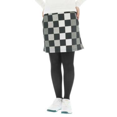 マンシングウェア Munsingwear レディース ブロックプリント 撥水 ストレッチ スカート MGWOGE03 2019年モデル ブラック(BK00)