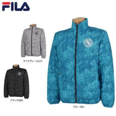 フィラ FILA メンズ 総柄 長袖 フルジップ ダウンジャケット 789-202 2019年モデル 詳細1