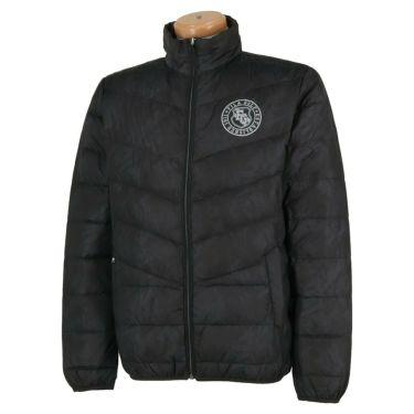 フィラ FILA メンズ 総柄 長袖 フルジップ ダウンジャケット 789-202 2019年モデル ブラック(BK)