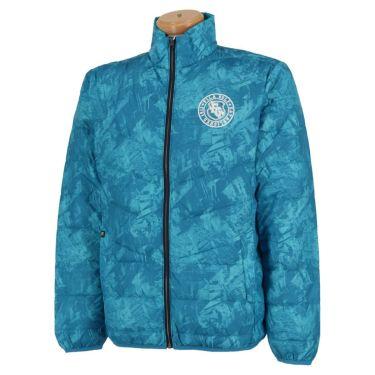 フィラ FILA メンズ 総柄 長袖 フルジップ ダウンジャケット 789-202 2019年モデル ブルー(BL)