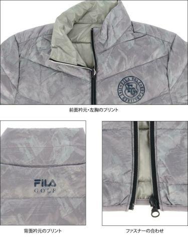 フィラ FILA メンズ 総柄 長袖 フルジップ ダウンジャケット 789-202 2019年モデル 詳細4