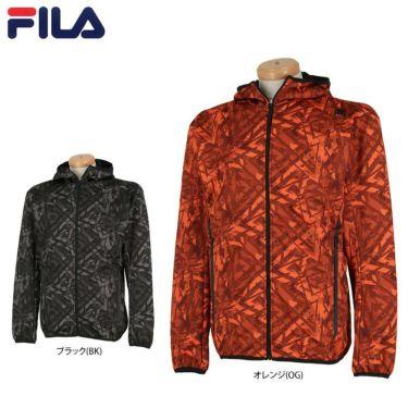 フィラ FILA メンズ 裏起毛 総柄 ボンディング 長袖 フード付き フルジップ ジャケット 789-211 2019年モデル 詳細1