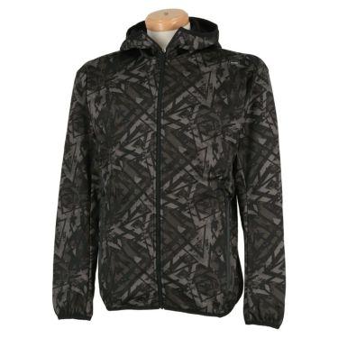 フィラ FILA メンズ 裏起毛 総柄 ボンディング 長袖 フード付き フルジップ ジャケット 789-211 2019年モデル ブラック(BK)