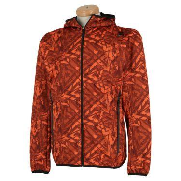 フィラ FILA メンズ 裏起毛 総柄 ボンディング 長袖 フード付き フルジップ ジャケット 789-211 2019年モデル オレンジ(OG)