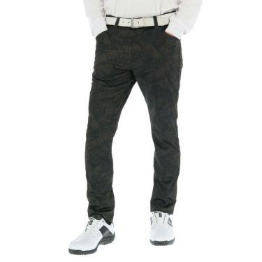 フィラ FILA メンズ 裏起毛 総柄 ボンディング ロングパンツ 789-306 2019年モデル [裾上げ対応1●] ブラック(BK)