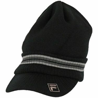 フィラ FILA メンズ つば付き ニットキャップ 789-908 BK ブラック 2019年モデル ブラック(BK)