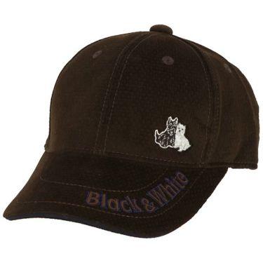 ブラック&ホワイト Black&White メンズ コーデュロイ ロゴ刺繍 キャップ BGF8409CC 50 ブラウン 2019年モデル ブラウン(50)