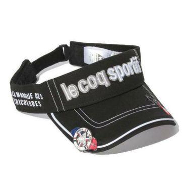 ルコック Le coq sportif メンズ クリップマーカー付き コットンツイル サンバイザー QG0265 N151 ブラック 2019年モデル ブラック(N151)