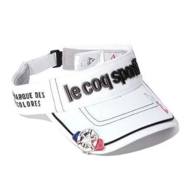 ルコック Le coq sportif メンズ クリップマーカー付き コットンツイル サンバイザー QG0265 N942 ホワイト 2019年モデル ホワイト(N942)