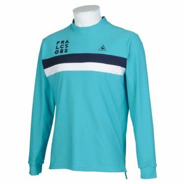 ルコック Le coq sportif メンズ ライン配色 長袖 モックネックシャツ QGMQJB02 2020年モデル ブルー(BL00)