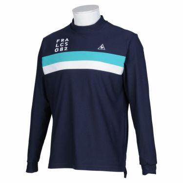 ルコック Le coq sportif メンズ ライン配色 長袖 モックネックシャツ QGMQJB02 2020年モデル ネイビー(NV00)