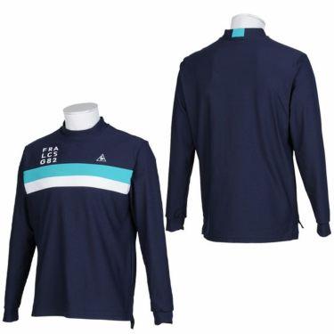 ルコック Le coq sportif メンズ ライン配色 長袖 モックネックシャツ QGMQJB02 2020年モデル 詳細3