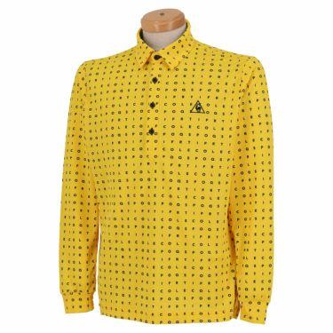 ルコック Le coq sportif メンズ タイポグラフィ柄 ロゴ刺繍 長袖 ポロシャツ QGMQJB07 2020年モデル イエロー(YL00)