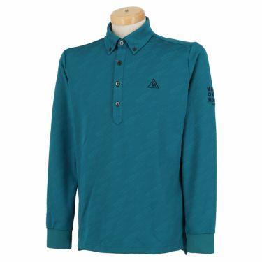 ルコック Le coq sportif メンズ ロゴジャガード 長袖 ボタンダウン ポロシャツ QGMQJB09 2020年モデル ブルー(BL00)