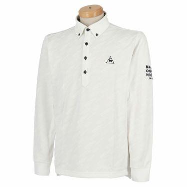 ルコック Le coq sportif メンズ ロゴジャガード 長袖 ボタンダウン ポロシャツ QGMQJB09 2020年モデル ホワイト(WH00)