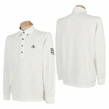 ルコック Le coq sportif メンズ ロゴジャガード 長袖 ボタンダウン ポロシャツ QGMQJB09 2020年モデル 詳細3