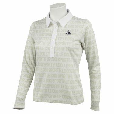 ルコック Le coq sportif レディース タイポグラフィ柄 長袖 ポロシャツ QGWQJB01 2020年モデル ホワイト(WH00)