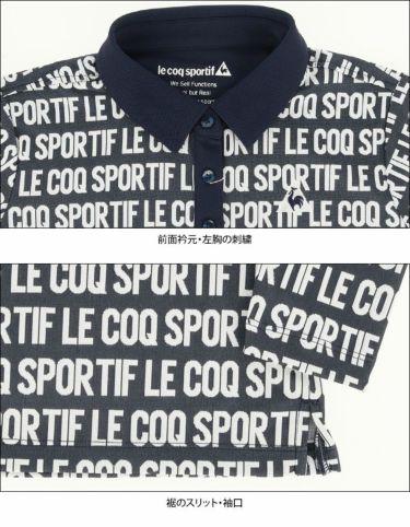 ルコック Le coq sportif レディース タイポグラフィ柄 長袖 ポロシャツ QGWQJB01 2020年モデル 詳細4