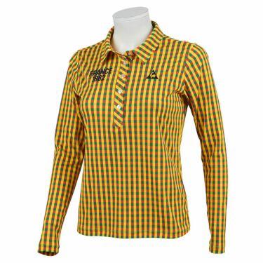 ルコック Le coq sportif レディース チェック柄 ロゴ刺繍 長袖 ポロシャツ QGWQJB02 2020年モデル マルチ(ML00)