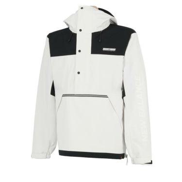 ニューバランスゴルフ メンズ 撥水 ストレッチ カラーブロック 長袖 ハーフジップ パーカー 012-0220008 2020年モデル ホワイト(030)