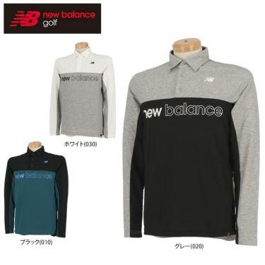ニューバランスゴルフ メンズ バイカラー ロゴプリント 長袖 ポロシャツ 012-0269001 2020年モデル 詳細1