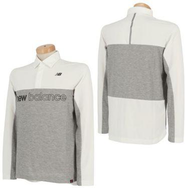 ニューバランスゴルフ メンズ バイカラー ロゴプリント 長袖 ポロシャツ 012-0269001 2020年モデル 詳細3