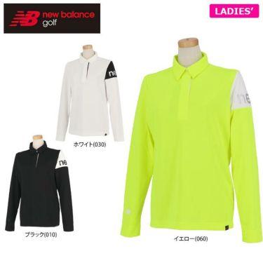 ニューバランスゴルフ レディース 配色切替 ロゴプリント 長袖 ハーフジップ ポロシャツ 012-0269501 2020年モデル