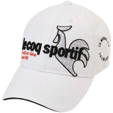 ルコック Le coq sportif メンズ 立体刺繍ロゴ コットンツイル キャップ QGBQJC00 WH00 ホワイト 2020年モデル ホワイト(WH00)