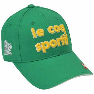 ルコック Le coq sportif レディース 立体刺繍ロゴ コットンツイル キャップ QGCQJC00 GR00 グリーン 2020年モデル グリーン(GR00)