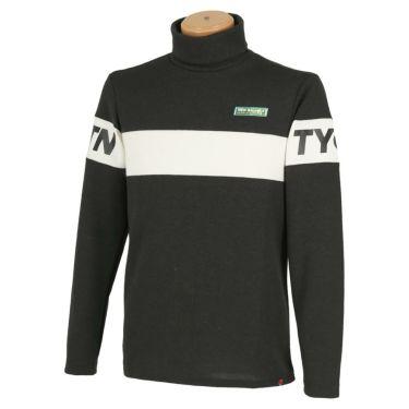 ニューバランスゴルフ メンズ METRO ライン配色 長袖 タートルネック プルオーバー 012-0267007 2020年モデル ブラック(010)
