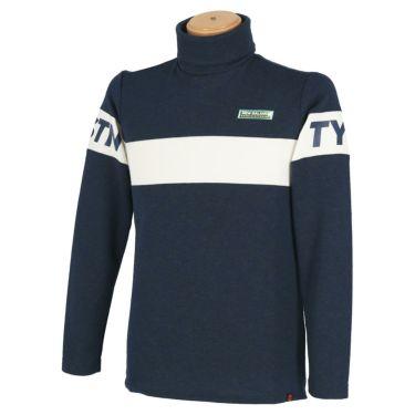 ニューバランスゴルフ メンズ METRO ライン配色 長袖 タートルネック プルオーバー 012-0267007 2020年モデル ネイビー(120)