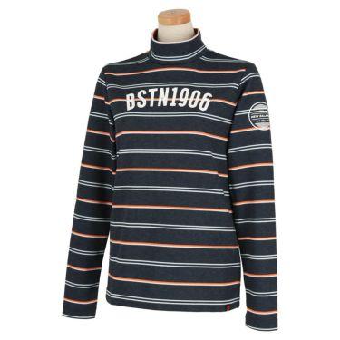 ニューバランスゴルフ レディース METRO マルチボーダー柄 長袖 モックネックシャツ 012-0267505 2020年モデル ネイビー(120)