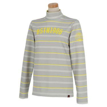 ニューバランスゴルフ レディース METRO マルチボーダー柄 長袖 モックネックシャツ 012-0267505 2020年モデル グレー(022)