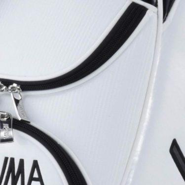 本間ゴルフ シンプルデザイン メンズ キャディバッグ CB-12023 WH/BK ホワイト/ブラック 2020年モデル 詳細1