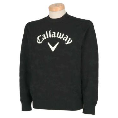 キャロウェイ Callaway メンズ 撥水 編地柄 長袖 クルーネック セーター 241-0218503 2020年モデル ブラック(010)