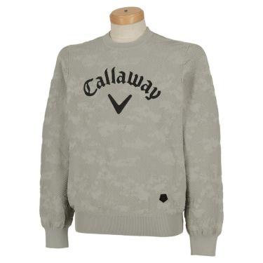 キャロウェイ Callaway メンズ 撥水 編地柄 長袖 クルーネック セーター 241-0218503 2020年モデル グレー(020)