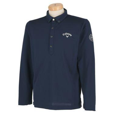 キャロウェイ Callaway メンズ ロゴ刺繍 長袖 ボタンダウン ポロシャツ 241-0233500 2020年モデル ネイビー(120)