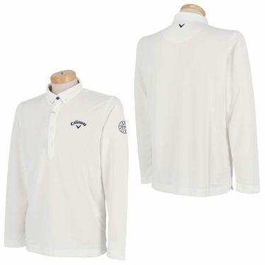 キャロウェイ Callaway メンズ ロゴ刺繍 長袖 ボタンダウン ポロシャツ 241-0233500 2020年モデル 詳細3