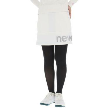 ニューバランスゴルフ レディース SPORT ロゴプリント ストレッチ スカート 012-0234502 2020年モデル ホワイト(030)