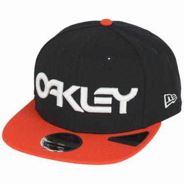 オークリー OAKLEY メンズ NewEraコラボ 9FIFTY 立体ロゴ刺繍入り フラットブリム キャップ FOS900348 6DG 2020年モデル ブラックアイリス(6DG)