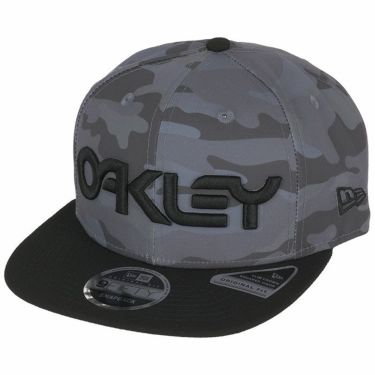 オークリー OAKLEY メンズ NewEraコラボ 9FIFTY 立体ロゴ刺繍入り フラットブリム キャップ FOS900348 9A2 2020年モデル コアグレーカモ(9A2)