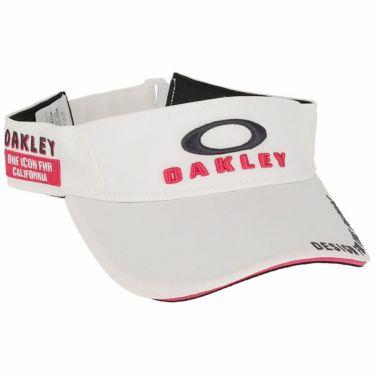 オークリー OAKLEY メンズ BG VISOR 14.0 FW 立体ロゴ刺繍入り サンバイザー FOS900442 100 2020年モデル ホワイト(100)