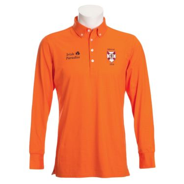 アドミラル Admiral メンズ エンブレムワッペン グレンチェック柄 長袖 ボタンダウン ポロシャツ ADMA079 2020年モデル オレンジ(46)